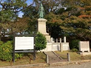 彦根城の井伊直弼銅像
