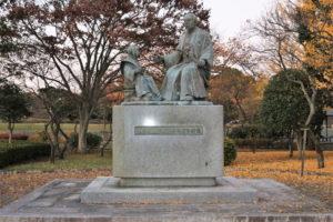 徳川斉昭公・七郎麻呂 (慶喜公) 像