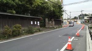 小島資料館の駐車場入口