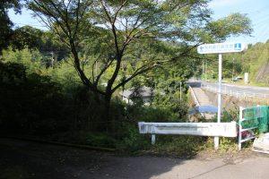 別府晋介誕生地の石碑入口