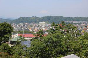 旧吉田茂邸から富士山