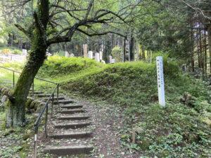 渋沢平九郎の墓の入口